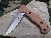 CRKT Hammond Desert Cruiser Folding Knife Pocket Tan Clip Point LAWKS 7904DI