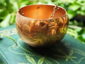 Vintage-Copper-Cauldron-for-a-Pagan-Altar-Witchcraft-Wicca-Mini