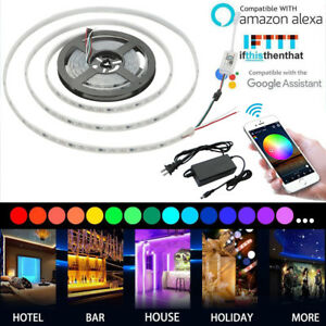 12V-wasserdicht-5M-5050-RGB-1903-IC-LED-Strip-Licht-Trao-WiFi-Timer-Controller