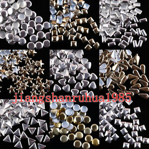 1000pcs-Gold-Silver-Plated-Studs-3D-Nail-Art-Metallic-Decoration-Different-Shape
