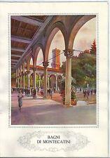 1928 MONTECATINI TERME Pistoia Toscana autotipia Ente Naz Industrie Turistiche