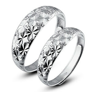 His-and-Hers-Sterling-Silver-Rings-Couple-Rings-Adjustable-Open-Ring-set