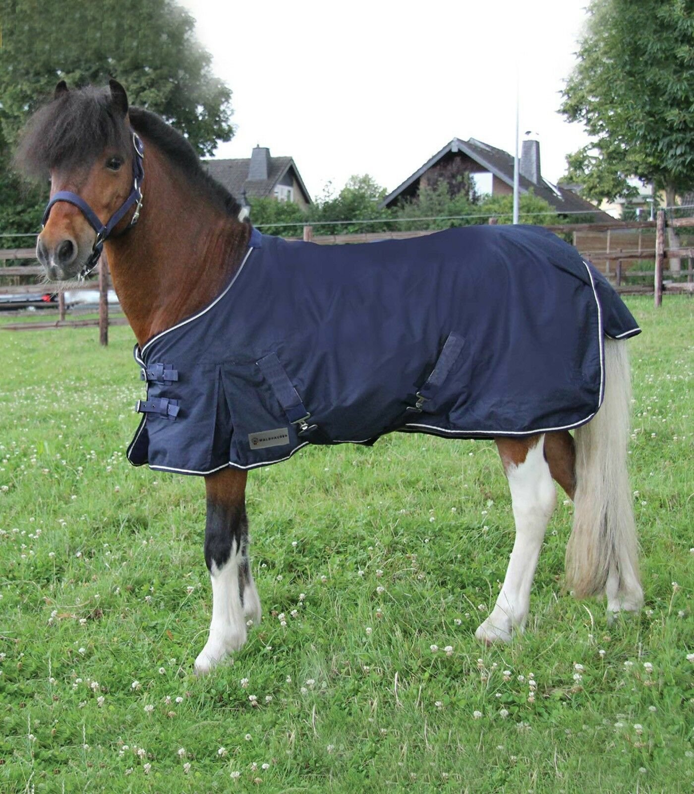 Outdoor Blanket, Rain Cover, Turnout Blanket Shetty, Mini Navy, Smooth Lining