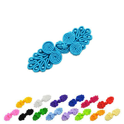 4 Sets Handmade Tradition Chinese Knots Frog Buttons Closures Beaded  Sewin  EH