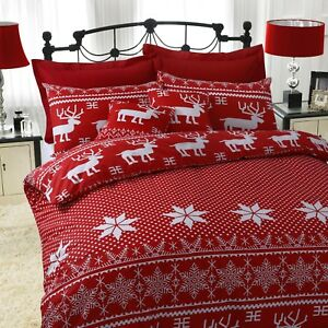 Red-Christmas-Duvet-Cover-Set-Nordic-Luxury-Quilt-Bedding-Single-Double-King