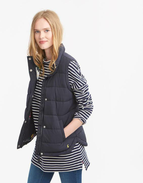 Joules Eastleigh Padded Gilet - Spring Summer 2016 - Navy