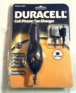 DURACELL-CELL-PHONE-CAR-CHARGER-MODEL-G0281-2-CONNECTOR-039-S