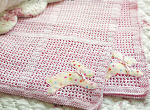 PRETTY BABY EASY FAST CROCHET BLANKET IN 4 PLY PATTERN (87)