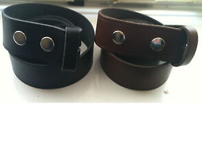 strap belt for buckle S SMALL 100cm Easy Snap on PU Leather Unisex belt