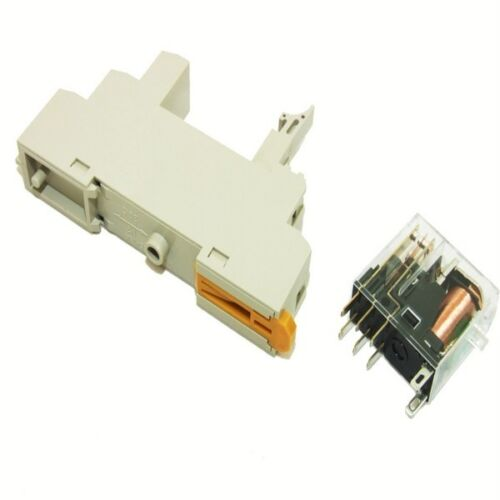 ELECTRICAL DIN RAIL plug in relay and base 240V TO 110V SE166 COMPRESSOR