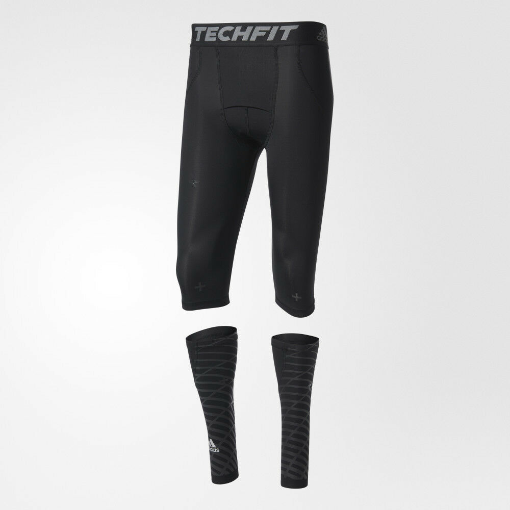 Adidas Techfit Recovery 3-in-1 Short Tights and Calf Warmers B45500 Compression