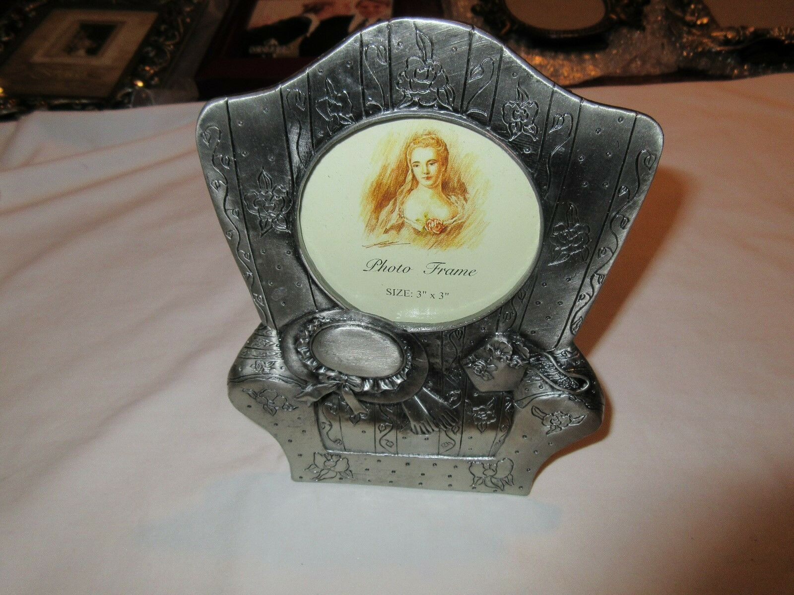 Picture Frame, Metallic With, Flowers,Hats, Purse Theme