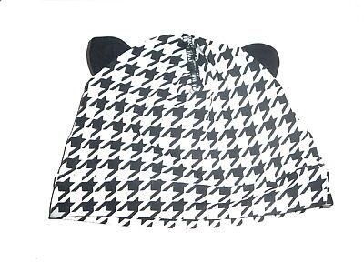 100% Vero H & M Fantastiche Berretto Tg. 68 Nero-bianco Con Motivo Con Tubola!!!- Novel (In) Design;