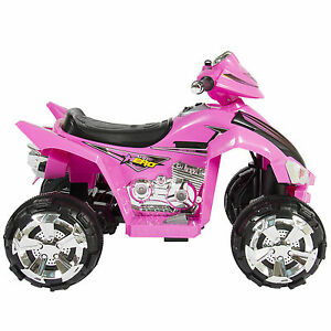 309018a8db4 Pink Kids Ride on Toys ATV Quad 4 Wheeler 12v Battery Electric Powered Music