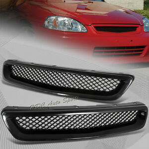 For-1996-1998-Honda-Civic-JDM-Type-R-Black-Mesh-ABS-Front-Hood-Grille-Grill