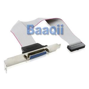 LPT1 Parallel Port Printer I//O Adapter DB25 to IDC 26Pin Header Slot Plate Panel
