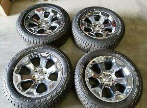 Dodge Ram Rims >> Details About 20 2019 Dodge Ram 1500 Big Horn 6 Lug Oem Chrome Wheel Rims Tires 20 Inch