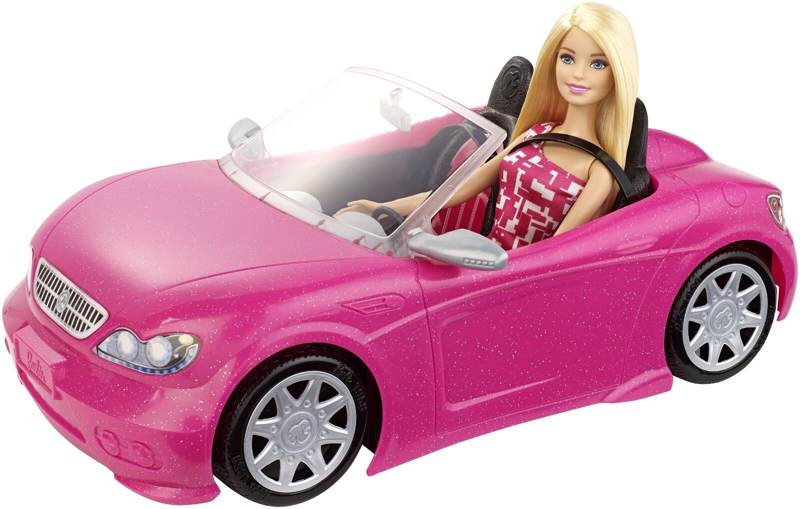 MATTEL Barbie Glam Cabrio & BARBIE djr55 NUOVO OVP