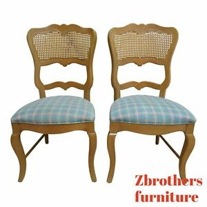Details About 2 Century Furniture Oak French Country Dining Room Cane Arm Chairs A