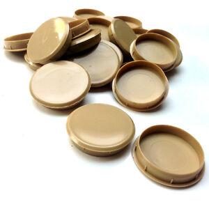 Image Is Loading 35mm Light Oak Plastic Hinge Hole Cover Caps