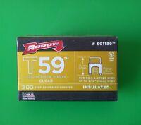 Arrow 591189 Clr 5/16 X 5/16 Clear Insulated Staples For T59 Stapler