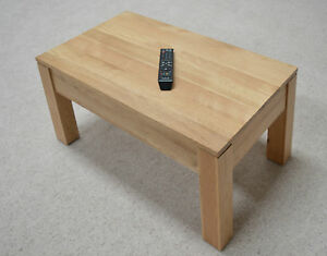 Image Is Loading Stratton Solid Oak Coffee Table Modern Chunky Light