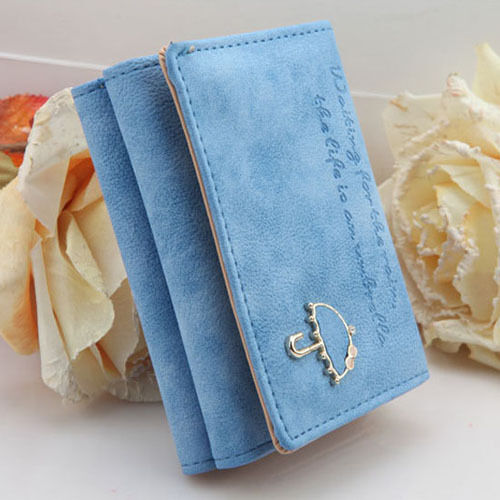 New Women's Fashion Leather Wallet Button Clutch Purse Lady Short Handbag Bag