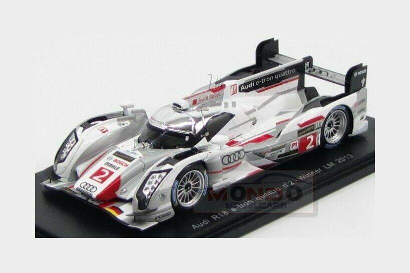 Audi  R18 E-Tron Quattro Hybrid Diesel  2 Winner Le Mans 2013 SPARK 1 43 43LM13  se hâta de voir
