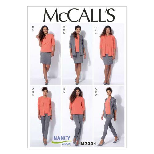 Mccalls patrones de corte m7331-set-rock-blusa pantalón-chaqueta