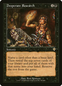 1X-FOIL-Desperate-Research-MTG-Magic-the-Gathering-INVASION-100-350