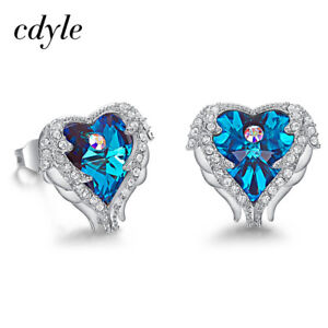 7c9ea2ee15 Details about Cdyle Crystals from Swarovski Sexy Heart Stud Earrings For  Women Valentine