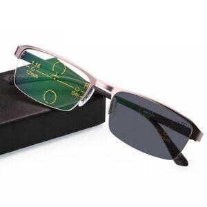1d544eb8768 Image is loading Photochromic-Reading-Glasses-Color-Change-Progressive- Eyeglasses-Men-