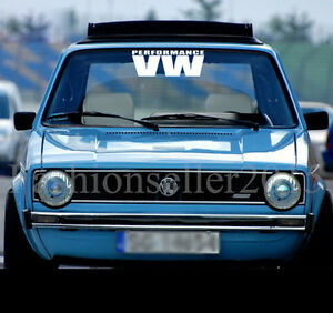 VW Front Rear Windshield Decal Vinyl Car Stickers For Volkswagen - Car windshield decals