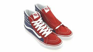 5be286d13d Vans Men Sk8-Hi Slim - Studded Stars red blue VN018IH0F