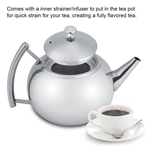 2L Edelstahl Teekessel Kaffeekanne Wasserkessel Teekocher Wasser-Kocher+Filter♥