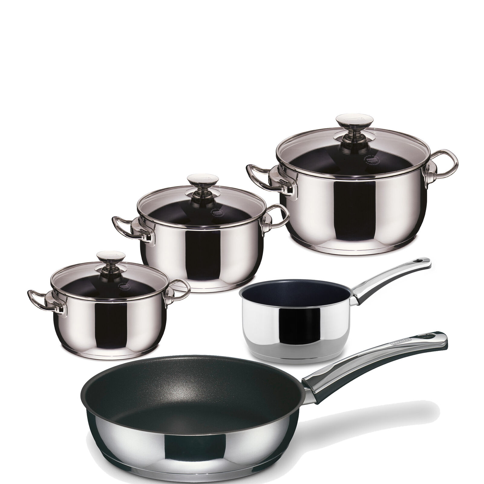Berndes INJOY Special Edition inducción utensilios 5 piezas de acero inoxidable