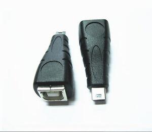 Mini-USB-B-5-pin-male-to-USB-2-0-Type-B-Printer-scanner-female-adapter-converter