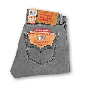 NEW-MENS-LEVIS-501-ORIGINAL-FIT-BUTTON-FLY-PREWASH-JEANS-GRAY-005012370