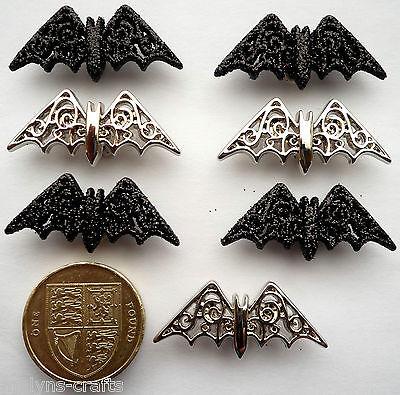 BEWITCHING BATS Craft Buttons 1ST CLASS POST Halloween Dracula Bird Novelty Fun