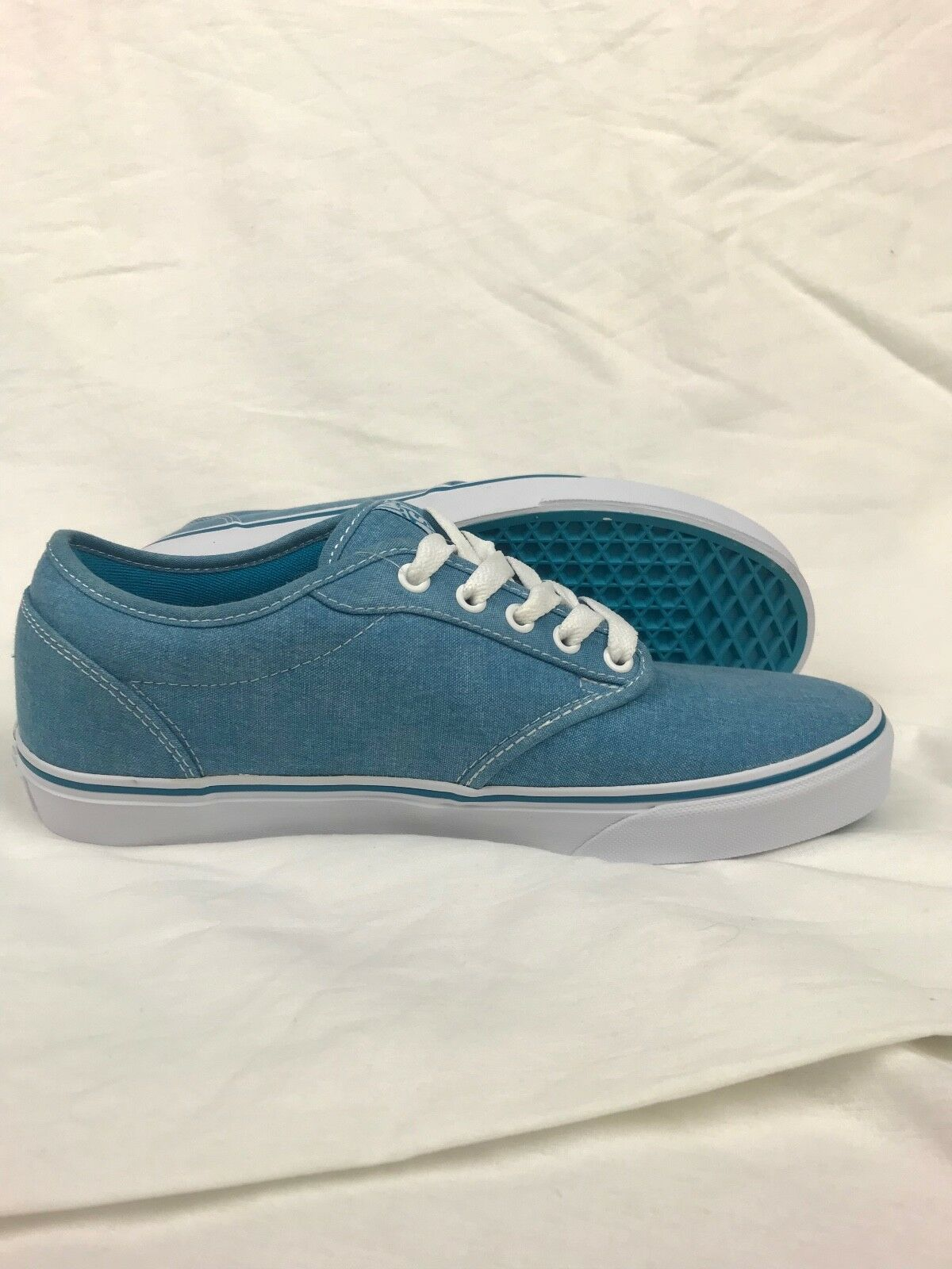 VANS. Atwood. Washed Textile. Teal   bluee. Womens shoes. W US 11.0.