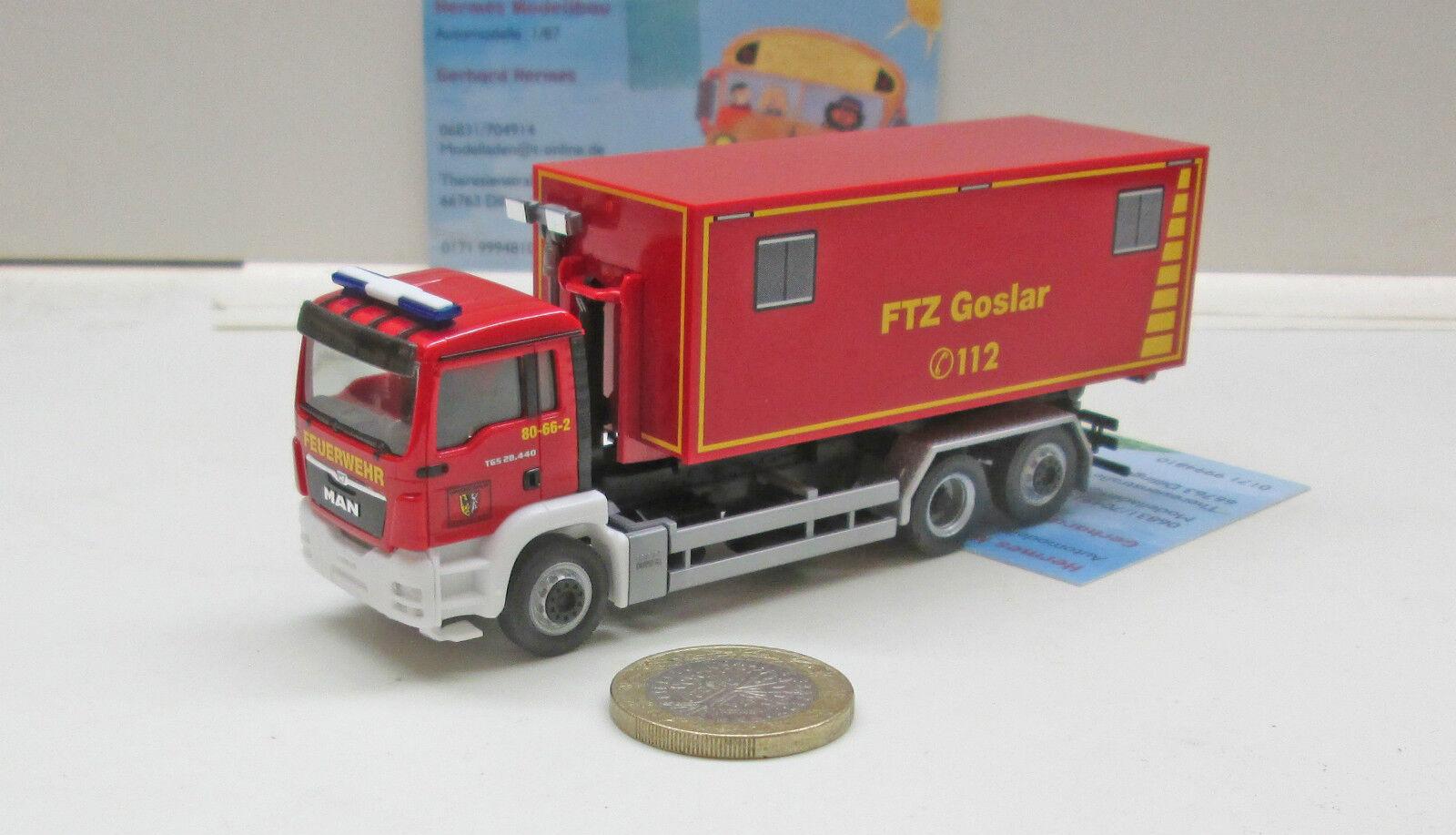 Herpa 092722MAN TGS M Wechsellader Wechsellader Wechsellader  Feuerwehrtechnische Zentrale Goslar    cbf02b