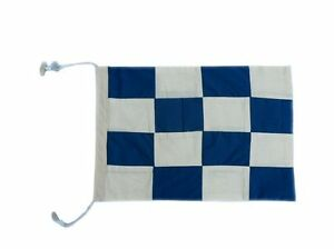 "Letter N Cloth Nautical Alphabet Flag - 20"" - Decorative Nautical Theme Flag"