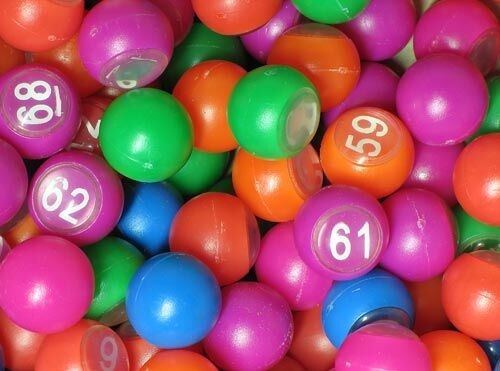 90 balls of Loto numbered multicoloured 18 mm mm mm diameter 913 8e557a