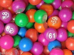 90 boules de Loto numerotees multicolores 18 mm de diametre 913