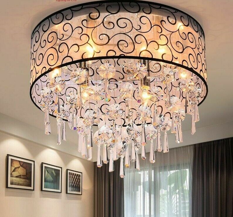 Crystal Lights Ceiling Lamp For Modern Interior Home Decorations Hanging Lustre
