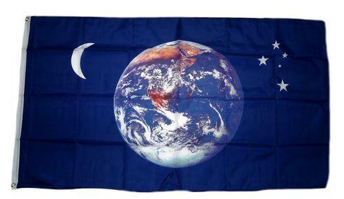 Flagge / Fahne Erde Mond & Sterne NEU 90 x 150 cm