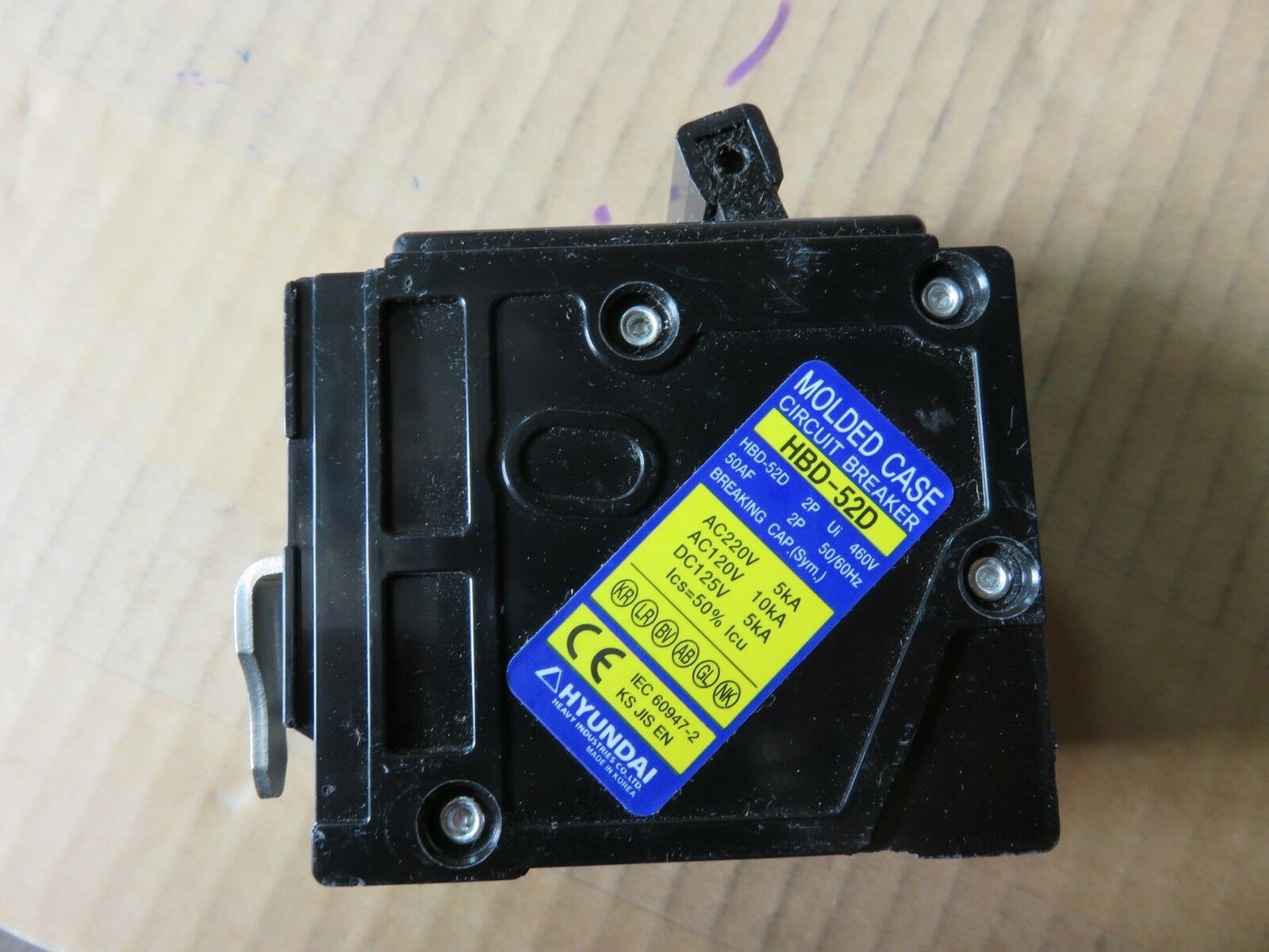 HBD-52D 40 Amp. NEW 2 Pole Hyundai Molded Case Circuit Breaker