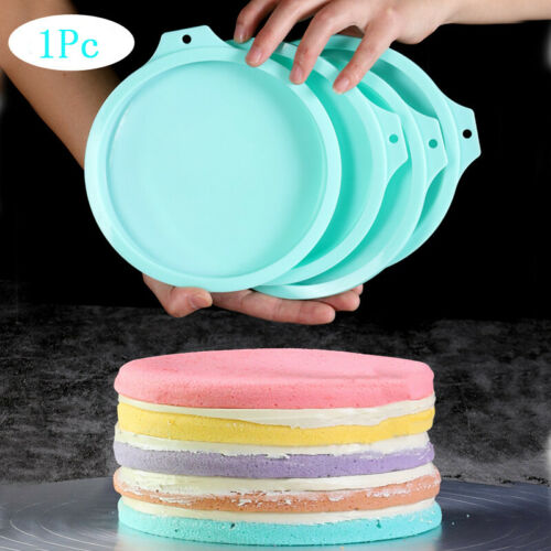 """8/"""" Silicone Rainbow Cake Bread Pastry Mould Bakeware Mousse Mold Baking Pans"""