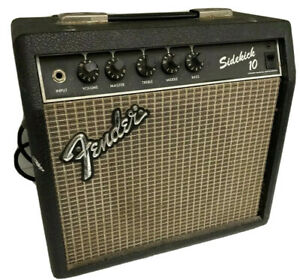 Vintage-Fender-Sidekick-10-Electric-Guitar-Rivera-Amplifier-Blackface-Amp-Relic
