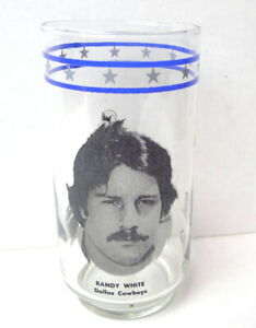 Dallas-Cowboys-1977-Burger-King-glass-Randy-White-Rare-Find-Collector-Owned